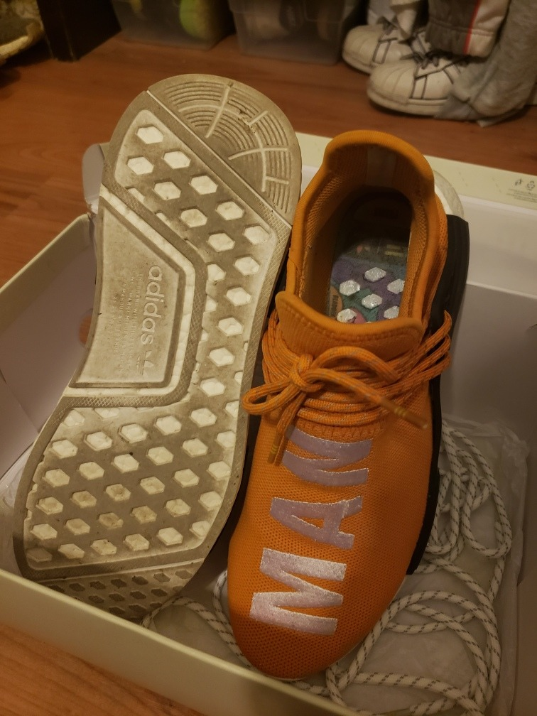 super popular 1ebef 8ef8e adidas Human Race Tangerine