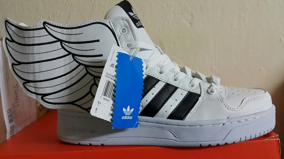 premium selection cf934 664e7 adidas jeremy scott wings 2.0 white black. Cargando zoom.