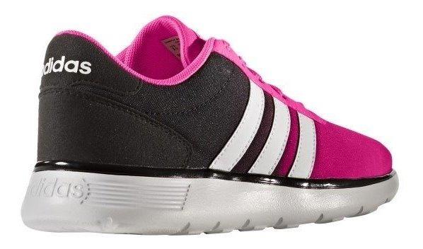 hambruna Pedir prestado Tumba  adidas Lite Racer K Negro/rosa Para Dama No. 25 - $ 1,399.00 en Mercado  Libre