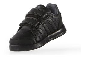 Zapatillas niña ADIDAS LK TRAINER 7 CF K velcro blancas