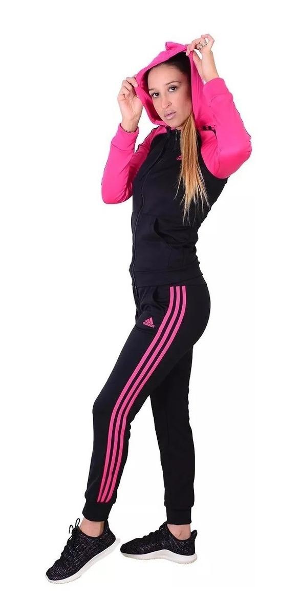 adidas Mujer Conjunto W Re Focus Negro Rosa