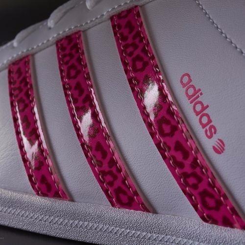adidas neo mujer blanco con rosa