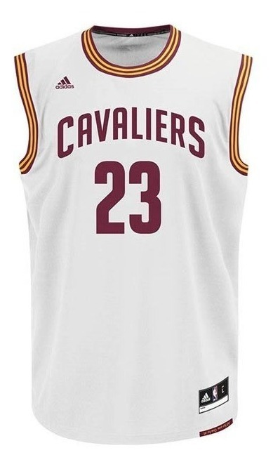 outlet store 4f070 d4621 adidas Nba Cleveland Cavaliers Jersey Blanco James A61197