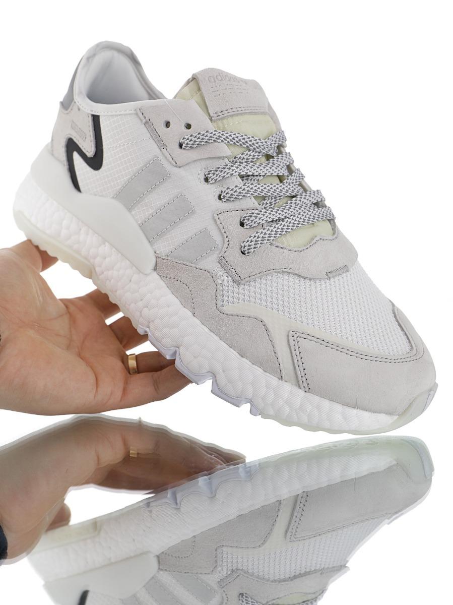 adidas Nite Jogger Boost Dar 2019 Blanco Gris Claro 36 45