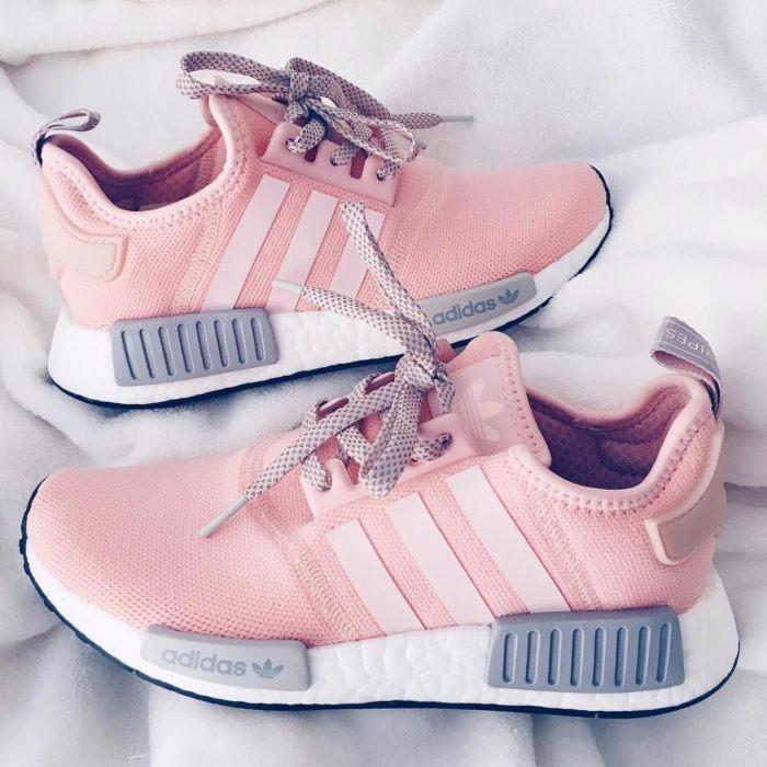 adidas nmd cinza e rosa original
