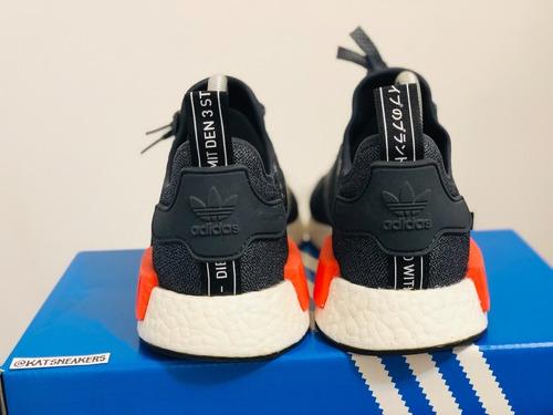 adidas nmd r1 wool grey solar red 3m 37 br semi novo