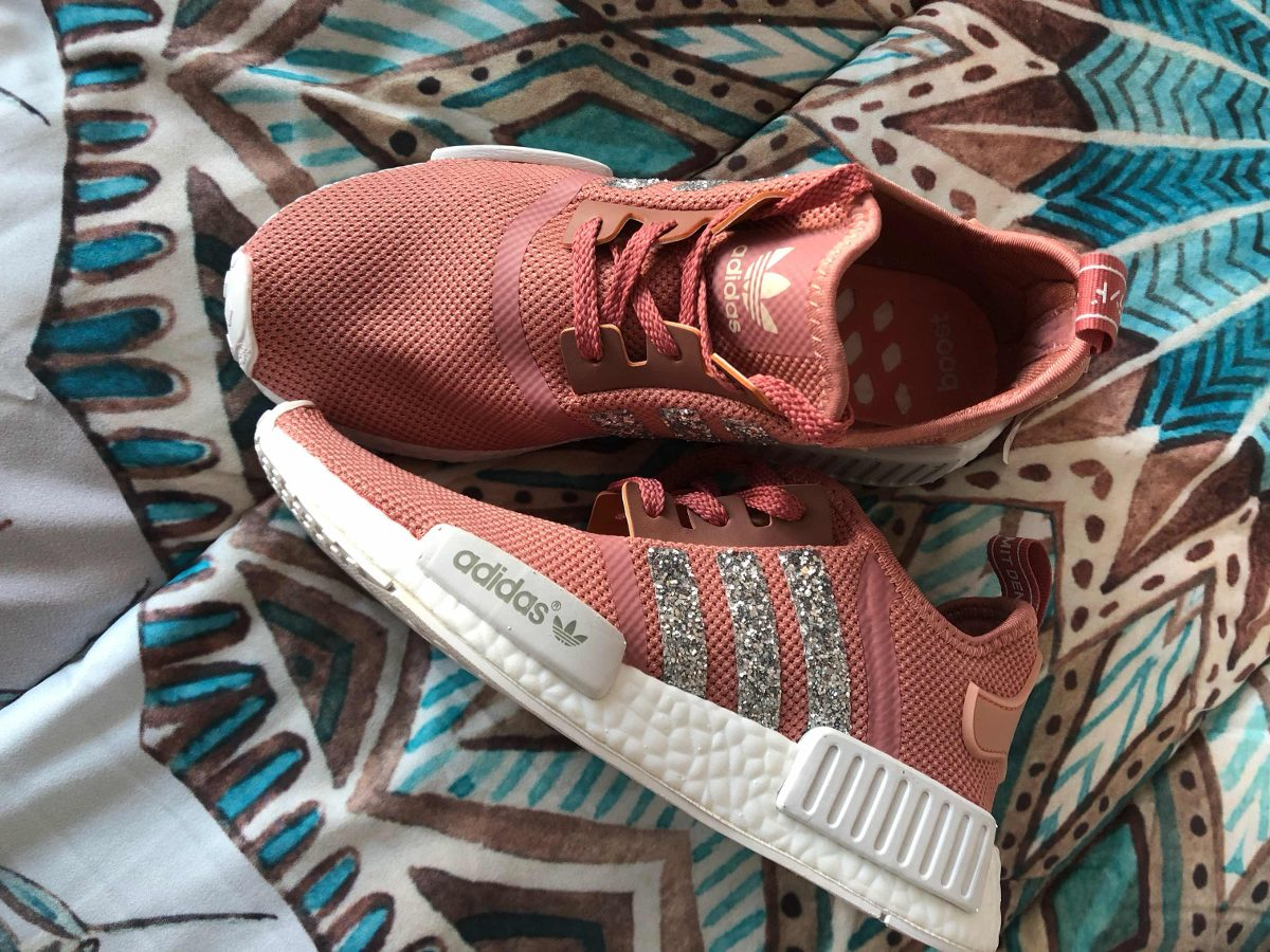 6eba65901a0c7 ... promo code for adidas nmd runner pink rosa con glitter tiras brillo. cargando  zoom.