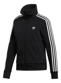 adidas Original Campera Lifestyle Mujer Track Jacket Negro
