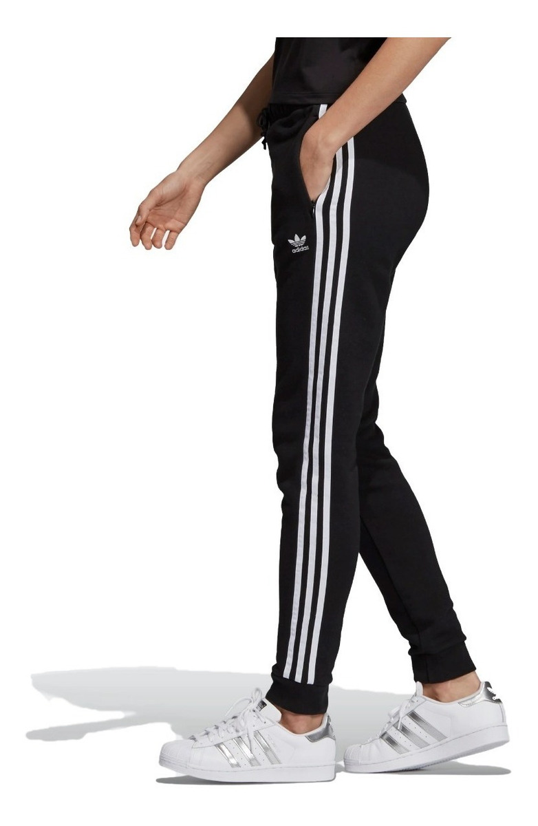 adidas Original Pantalon Lifestyle Mujer Cuffed Negro Fkr