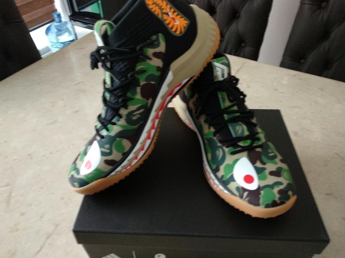 adidas Originals Dame4 Camo Green X Bape Exclusivos 27mx 9us ...