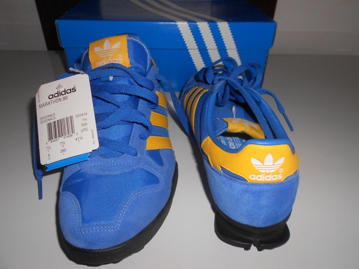 ad17c64a4e17 adidas originals marathon 80 azul amarelo. Carregando zoom.