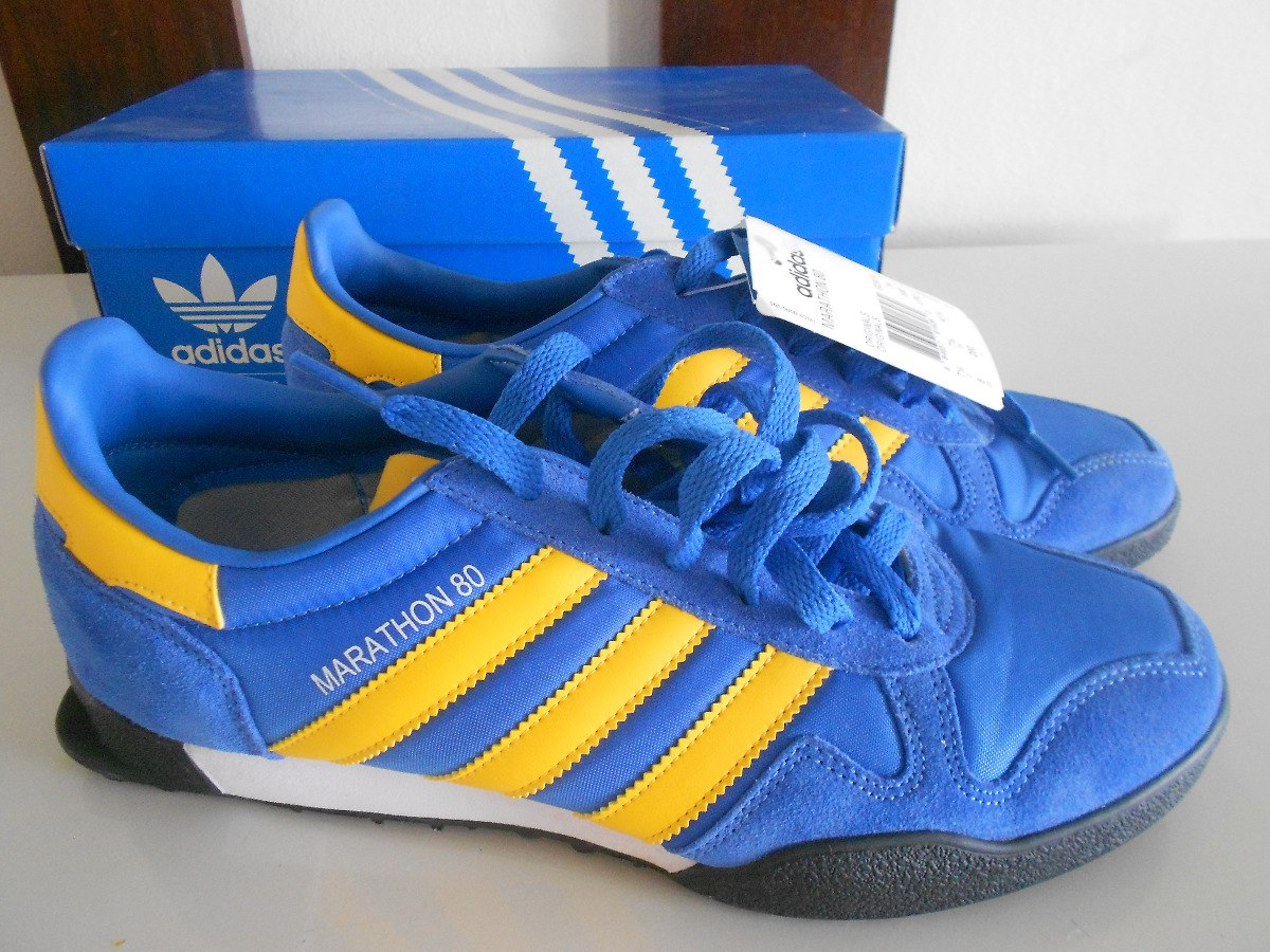 detailed look e54e9 6d648 adidas originals marathon 80 azul amarelo. Carregando zoom.