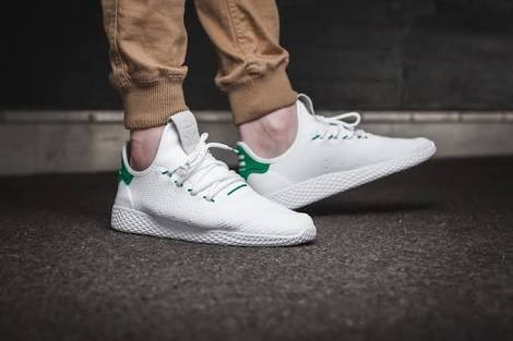 f8fbe9f8c8de4 adidas Pharrell Williams Tennis Hu Primeknit  white green ...