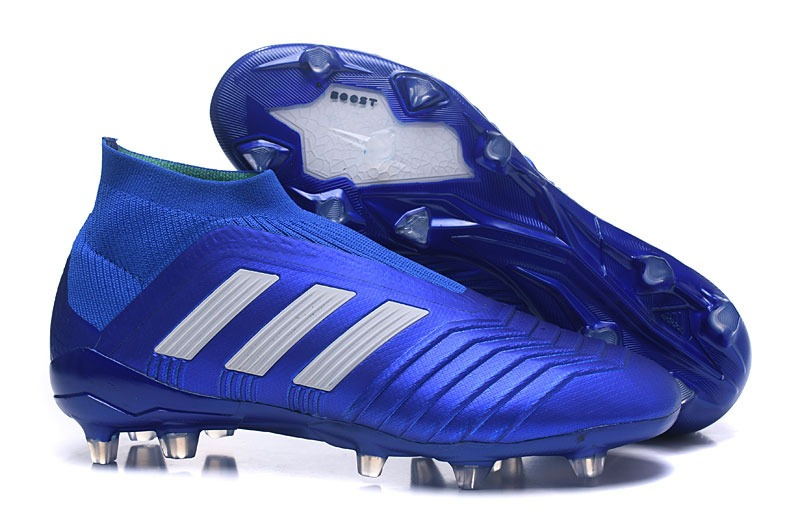 new style b4b62 df751 adidas predator 18+ fg - azul logo blanco -t39. Cargando zoom.