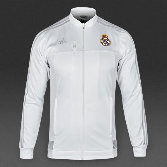 071a97be20c04 adidas Real Madrid Chamarra Anthem Color Blanco Para Adulto ...