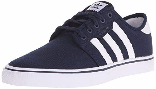 adidas  skate originals azul marino-blanco  10 us
