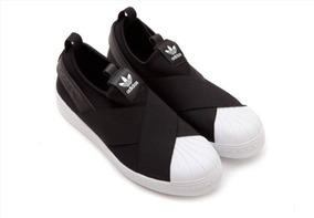 1c328e727de Tênis adidas Importado Slip On Superstar Original Black
