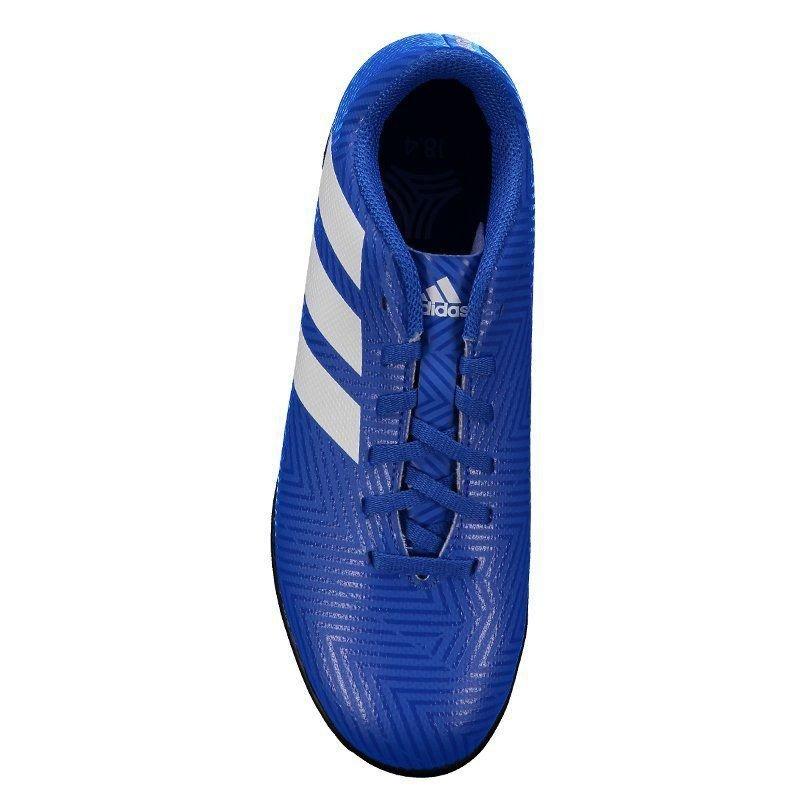 Chuteira adidas Nemeziz Tango 18.4 Tf Society Juvenil Azul - R  144 ... 9c46153989055