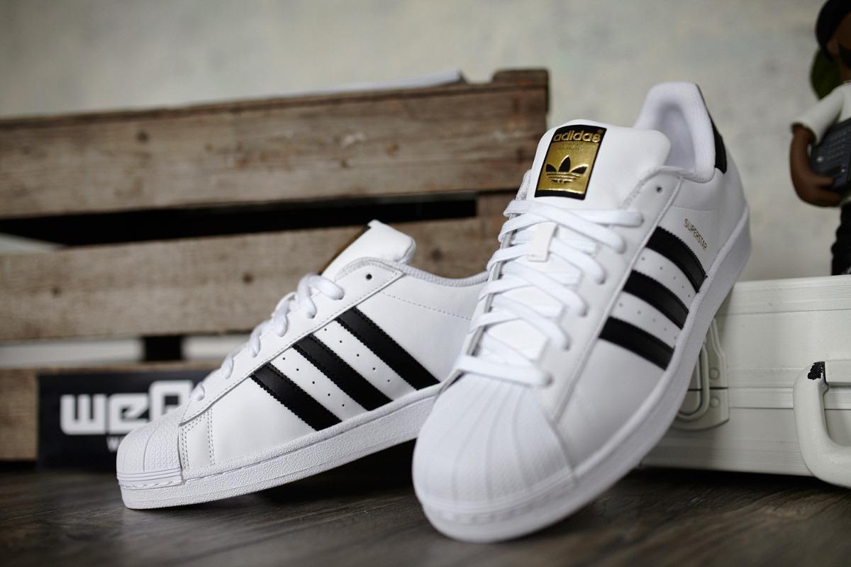 adidas Super Star Blanco Negro Dorado - Bs. 125.000 f6afff71a98f3