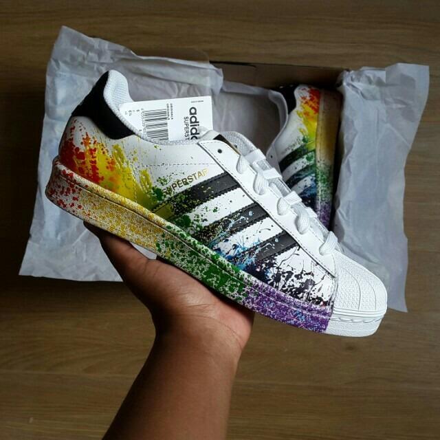 Adidas Super Star Concha Salpicado Arcoiris Nba Nmd Yeezy