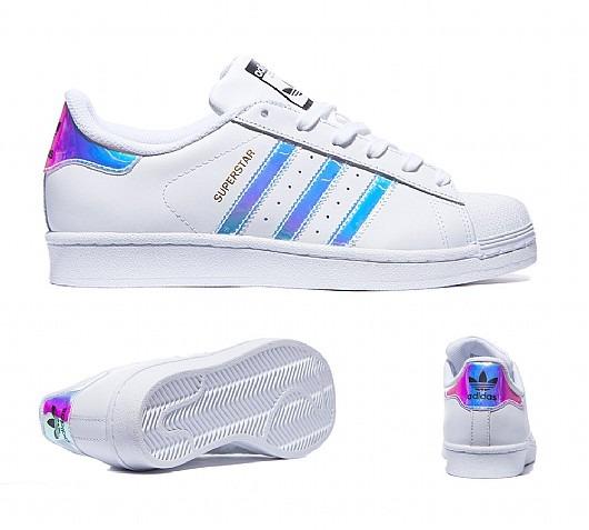 adidas Superstar 100% Originales Dama Tornasol Tornasoladas