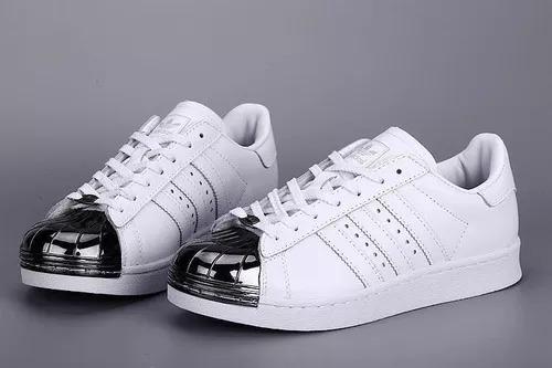 adidas Superstar 100% Originales Puntera Glitter Plateada