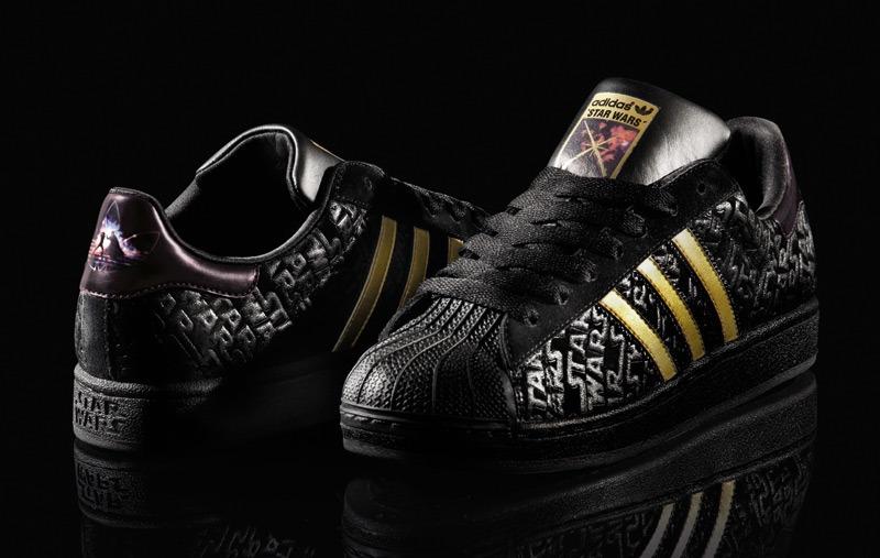 the best attitude bd92e d72ac adidas superstar 2 star wars original preto e ouro  raro  ...