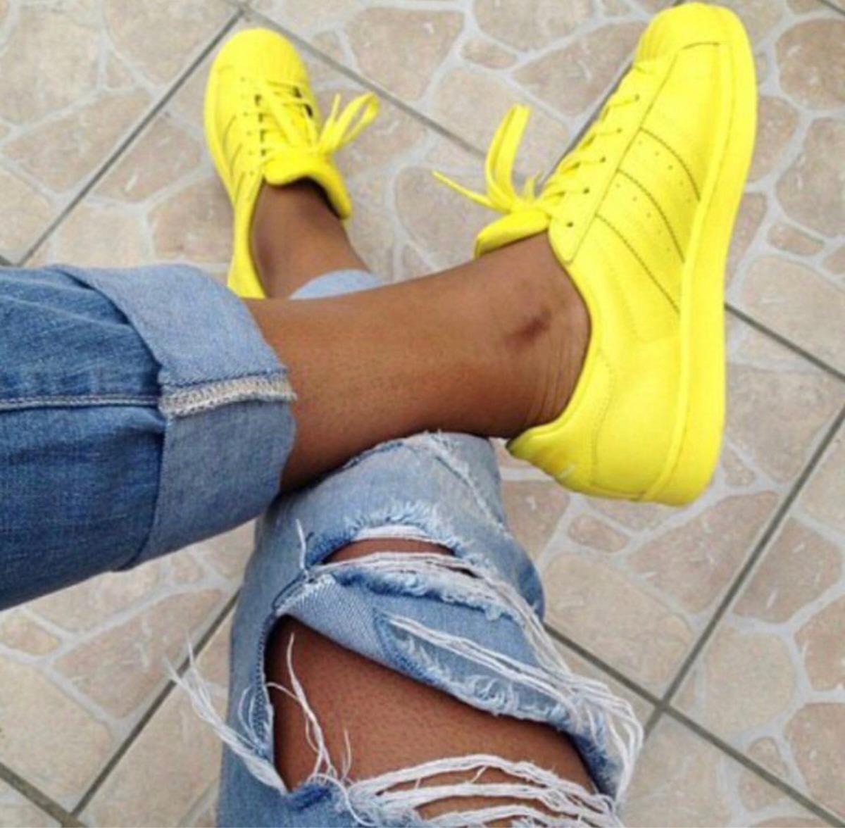 adidas superstar amarillas yellow