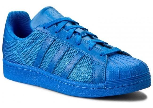 adidas superstar en azul