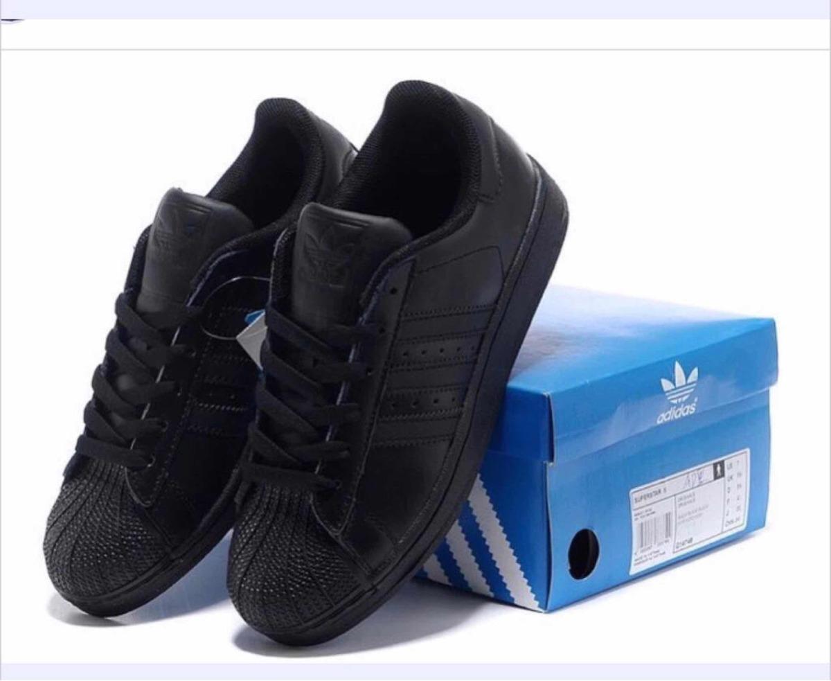 4e1cab04873 ... italy adidas superstar black total cuero vte lópez. cargando zoom.  0fddb 4e908