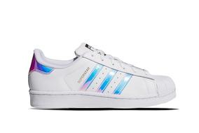 Zapatillas adidas Superstar Blancas Tiras Tornasoladas
