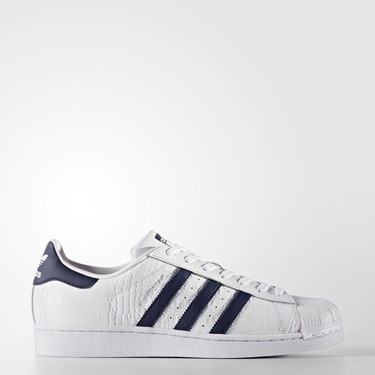 5b090163dc4 adidas superstar blanco c  azul marino.  7. originales. Cargando zoom.