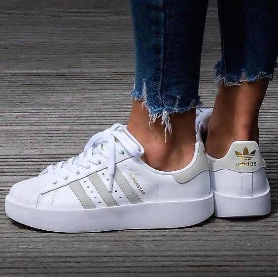 adidas superstar bold blancas