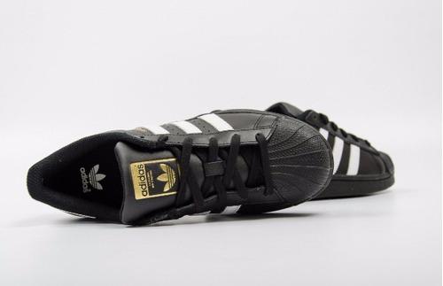 adidas superstar concha negro con caja