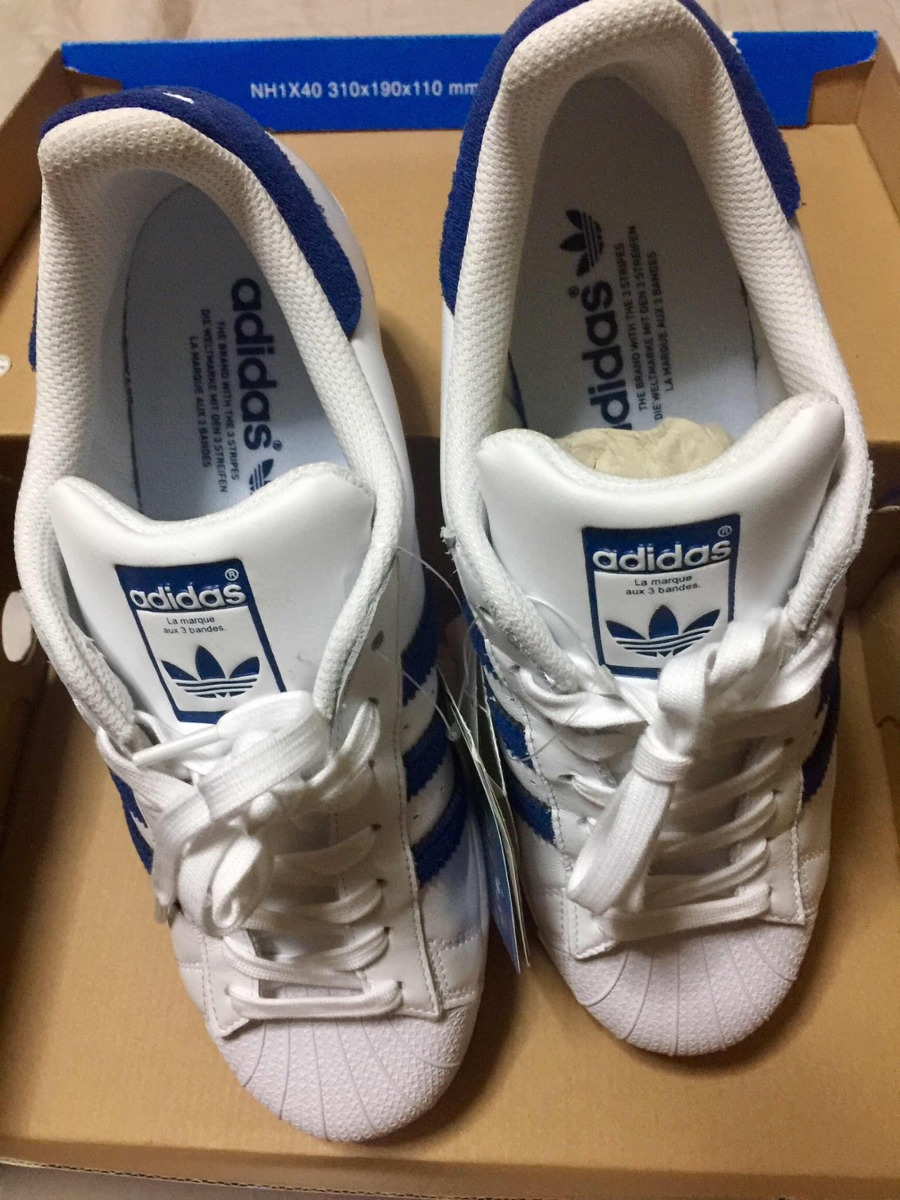 low cost adidas superstar with azul stripes 562dc f2143