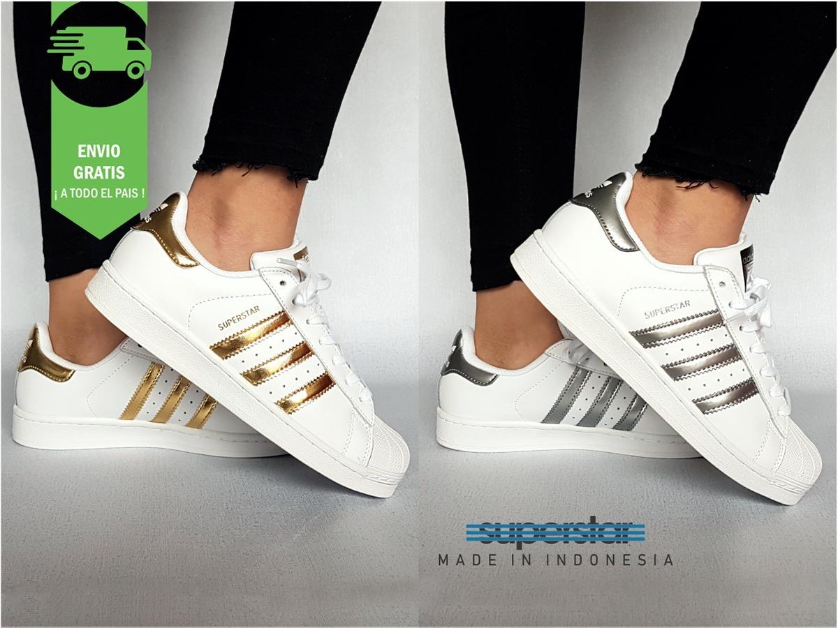 adidas Superstar Dorado / Plata  Mujer  Envio Gratis  Plata  3.390 b053a0