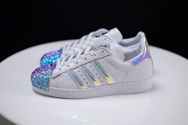 adidas superstar glitter holographic