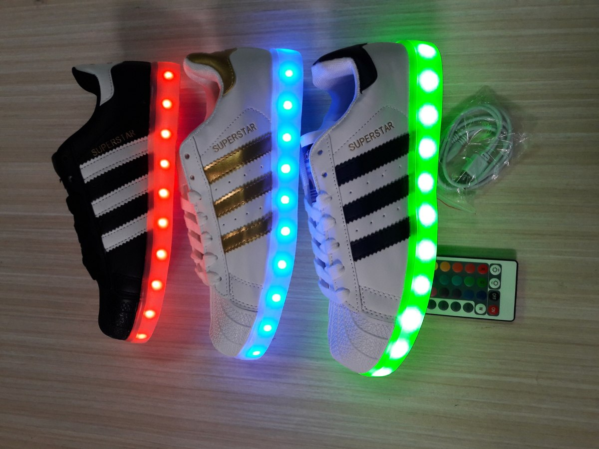 adidas superstar con luces