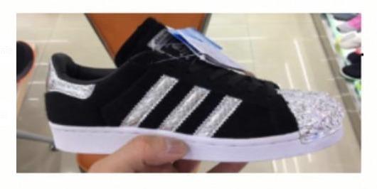 100 39 Puntera Negras Adidas Brillo Originales3 Superstar 37 A5RL34j