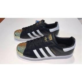835dcbf1 Zapatillas Adidas Superstar Negras Con Punta Metalica - Zapatillas ...