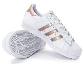b22f7eebcaa Adidas Superstar Com Ponta Dourada - Adidas Branco no Mercado Livre ...