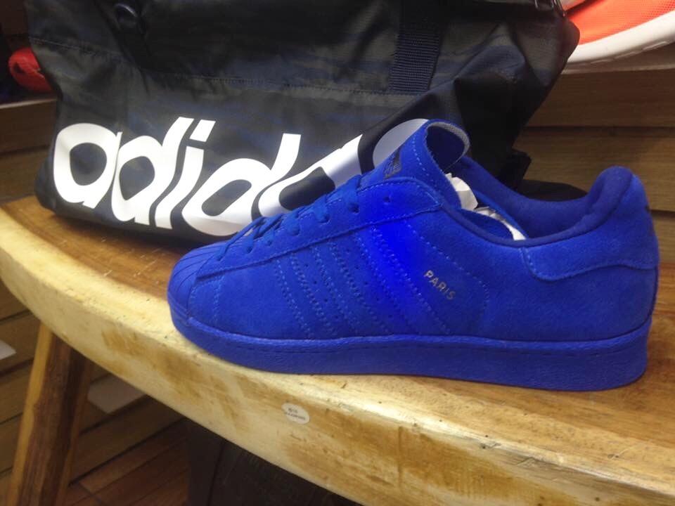 adidas superstar azules gamuza