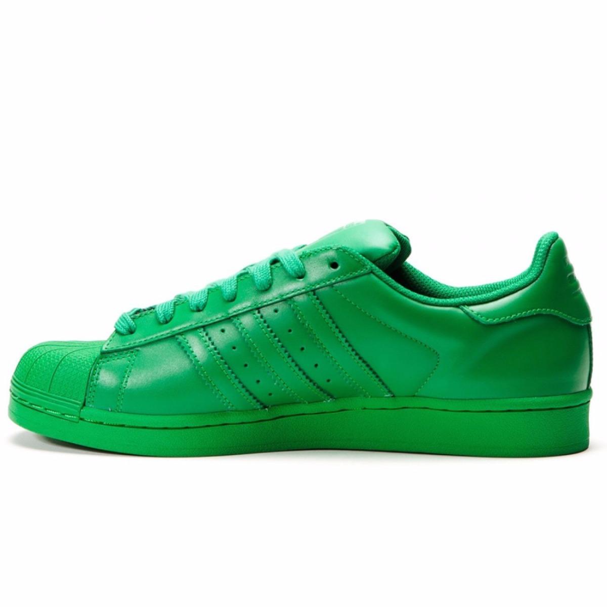 adidas superstar verdes mujer