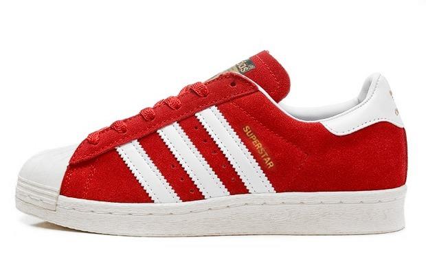 Superstar Adidas Mujer Rojos
