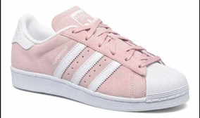 adidas superstar blancas rosa