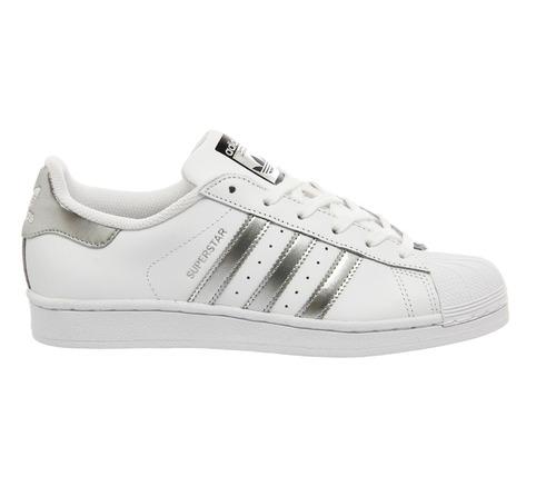 adidas superstar silver, white