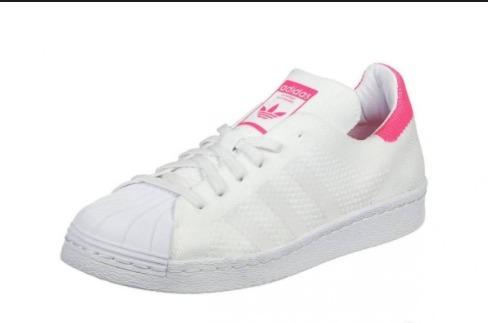 dc0248e3d adidas Superstar Tela Mujer Blanco Con Rosa -   1