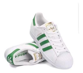 check out 2e89a 9b75a adidas Superstar Vintage Blanco/verde *ultima Pieza 28.5cm