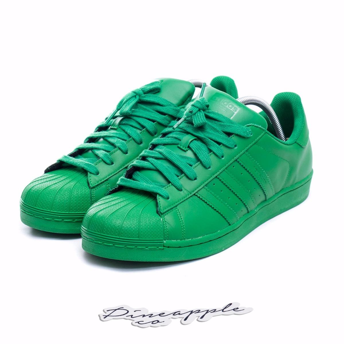 08ca46535 ... discount adidas superstar x pharrell williams supercolor green.  carregando zoom. 6d01e 92c7a
