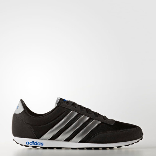 adidas tenis original v racer sneaker moda plateado 6792221